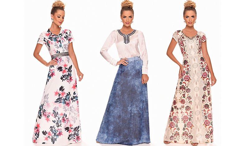 vestido longo estampado zunna ribeiro blog via evangelica