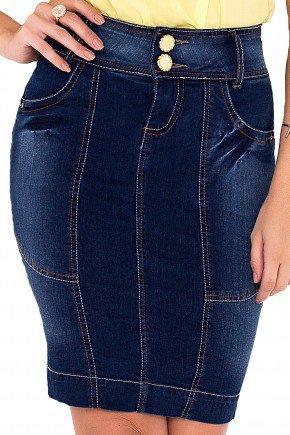 saia jeans tradicional recorte detalhado laura rosa viaevangelica frente detalhe