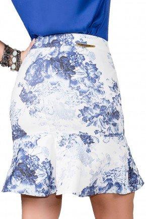 saia curta jeans estampa floral sino titanium viaevangelica costa detalhe