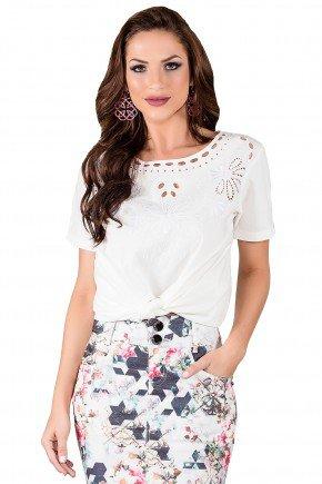 blusa branca detalhe decote titanium viaevangelica frente