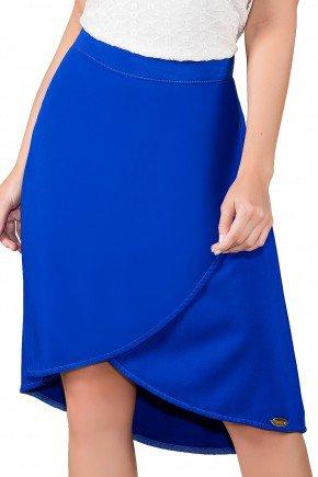 saia evase color azul royal titanium viaevangelica frente detalhe