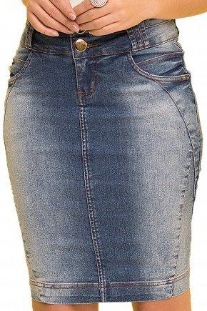 saia tradicional jeans laura rosa viaevangelica frente detalhe