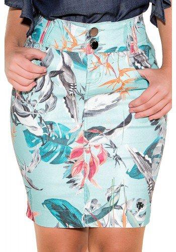 saia tradicional curta azul claro estampa floral titanium viaevangelica frente detalhe fileminimizer