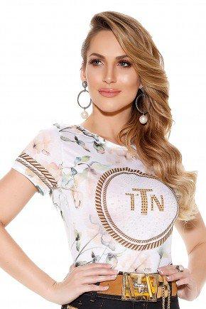 t shirt estampa floral manga curta titanium frente
