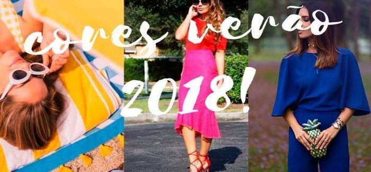 Tendências de cores para o Verão 2018!