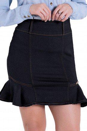 saia jeans escura sino curta laura rosa detalhes1 frente