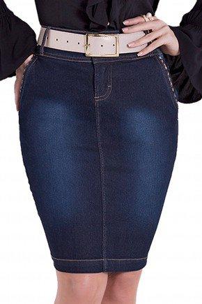 saia jeans tradicional justa lavagem cinto laura rosa detalhes1 frente