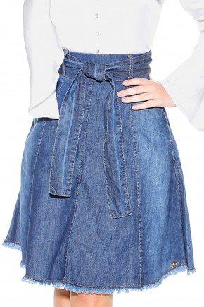 saia jeans midi gode amarracao laco titanium detalhes1 frente