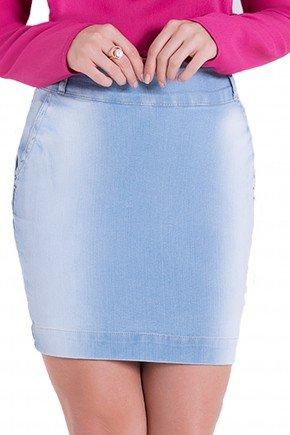 saia jeans claro lavagem justa laura rosa detalhes1 frente