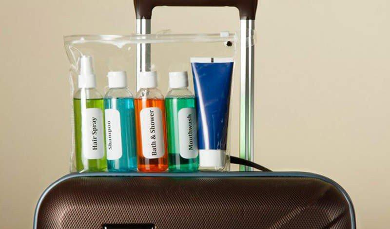 cosmeticos organizado na mala de viagem blog via evangelica