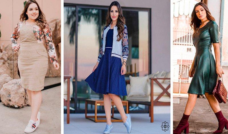 combine sapatos com vestido blog via evangelica