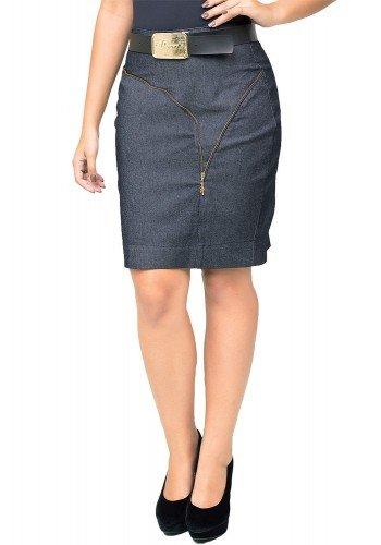modelo cabelo castanho saia preta jeans dyork1