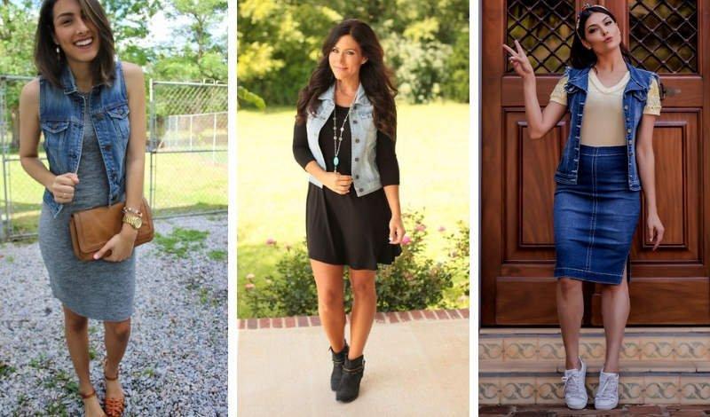 blog moda colete jeans conjunto