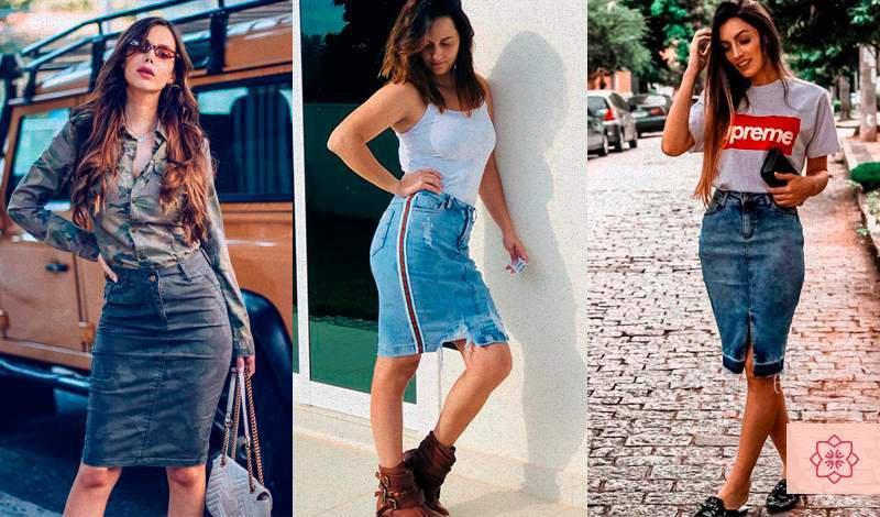 saia jeans modelo esportivo