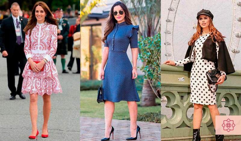 vestidos midi estamapdos super na moda
