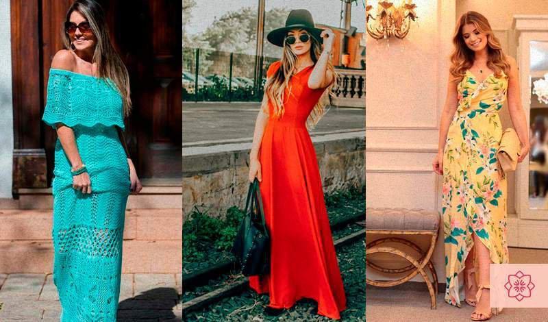 blogueira ariane blogueira jaque jacob vestem vestido longo vermelho e vestido longo estampado