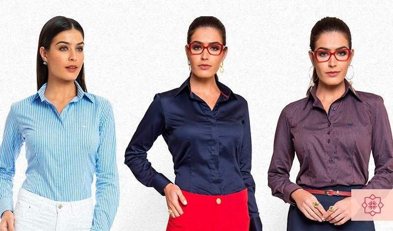 camisa social feminina da marca principessa