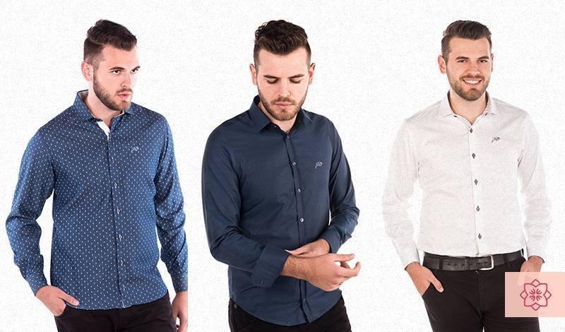 camisas sociais masculinas de manga comprida