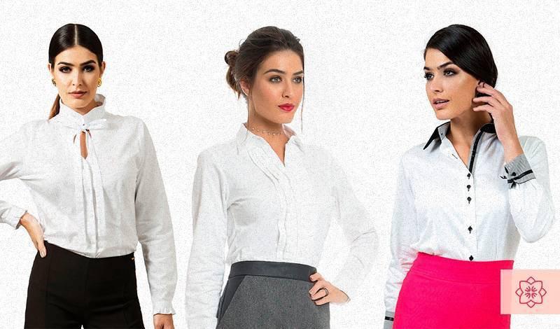 camisa branca social feminina principessa