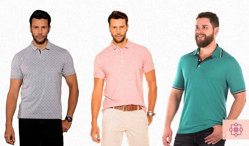 camisas polo de homem