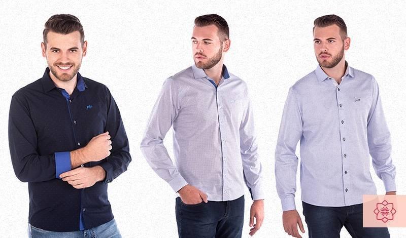 camisa social masculina manga comprida