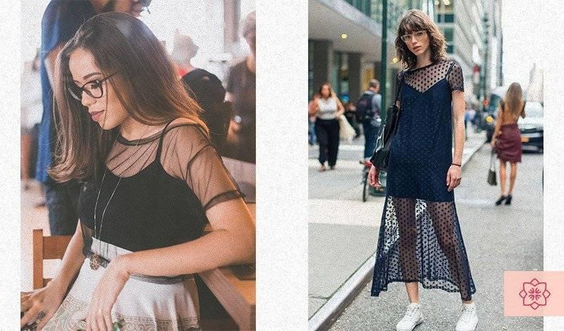 vestdo blusa com transparencia