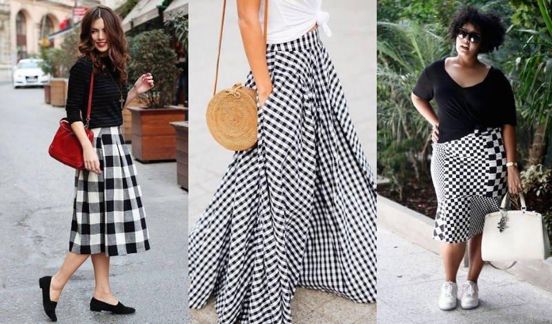 blog moda tendencia moda evangelica saias xadrez