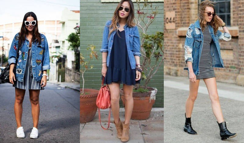 blog jaqueta jeans vestido