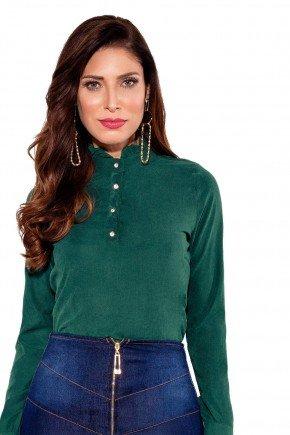 24170 modelo cabelo castanho blusa verde frente cima titanium