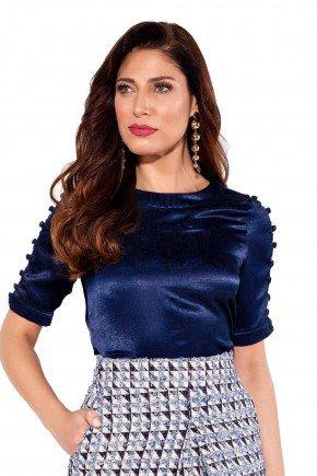 24153 modelo cabelo castanho blusa azul frente cima titanium