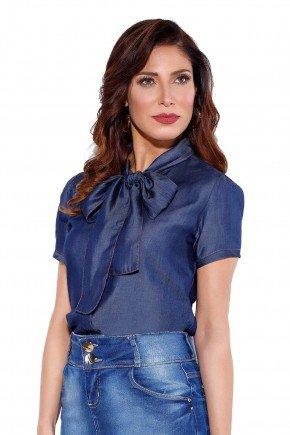 24166 modelo cabelo castanho blusa jeans frente cima titanium