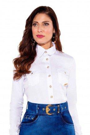 24185 modelo cabelo castanho camisa branca frente cima titanium