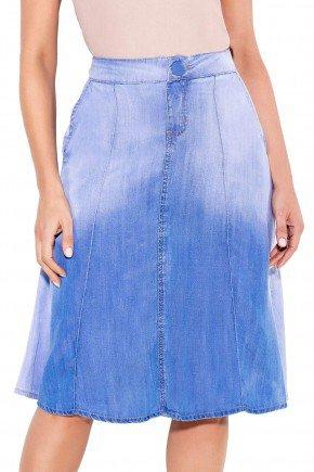 24095 modelo cabelo castanho saia gode jeans frente baixo titanium