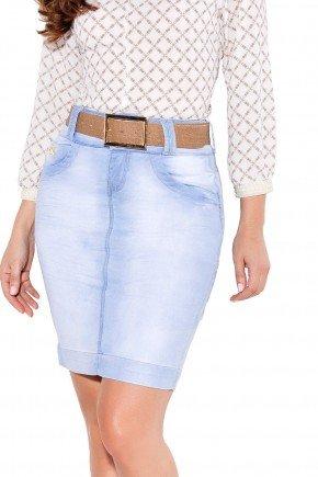 24048 modelo cabelo castanho saia tradicional jeans frente baixo titanium