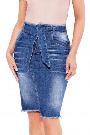 24065 modelo cabelo castanho saia tradicional jeans frente baixo titanium