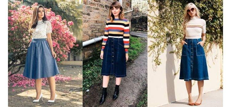 Dicas de como Combinar Blusas Femininas e Saias Jeans