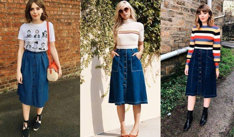 blog saia jeans saia midi
