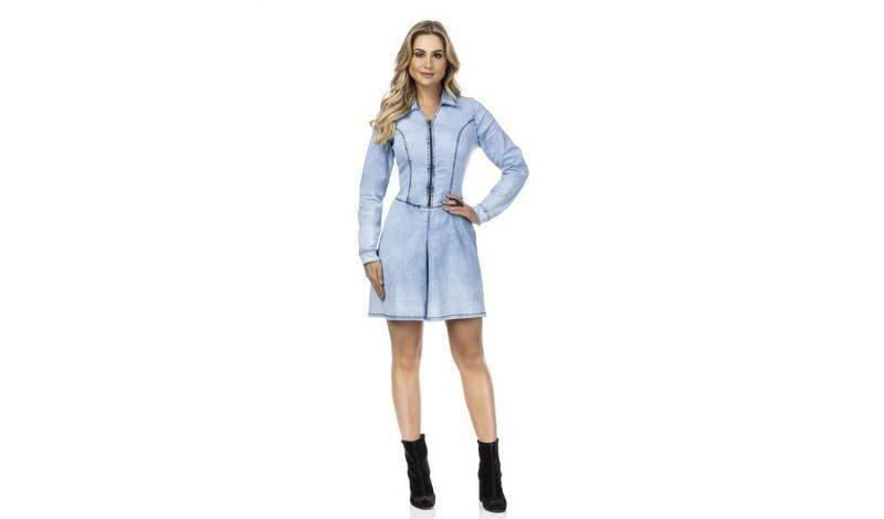 blos post vestidos casuais jeans dyork