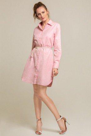 vestido oxford rosa morgana frente2