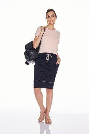 shorts saia preto emana alta compressao uv50 epulari frente