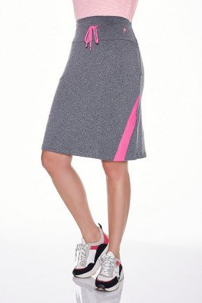 saia shorts fitness evangelica epulari mescla detalhe rosa frente baixo