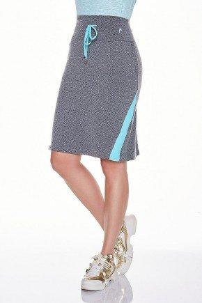 saia shorts fitness evangelica epulari mescla detalhe azul frente baixo