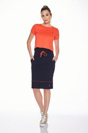 shorts saia preto alta compressao anti celulite uv50 epulari ep0221 frente