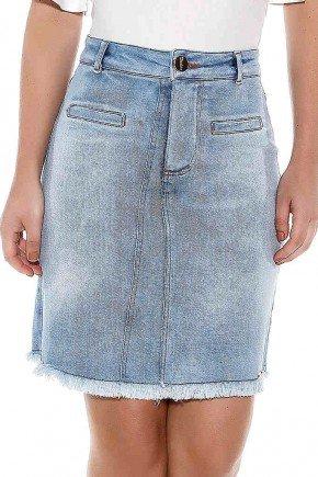saia evase jeans azul claro titanium ttn24412 frente baixo