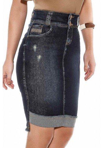 saia jeans azul marinho mullet titanium ttn24443 frente baixo