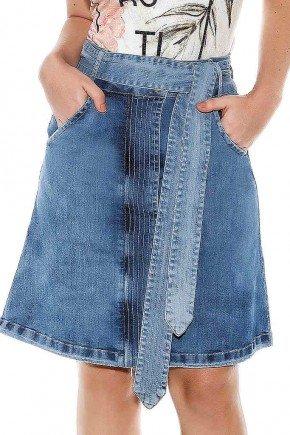 saia jeans evase com faixa titanium jeans ttn24450 frente baixo