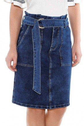 saia evase em malha denim titanium jeans ttn24452 frente baixo