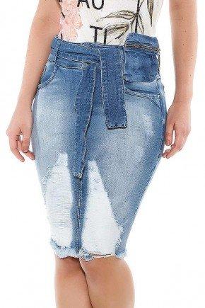 saia jeans reta destroyed titanium jeans ttn24445 frente baixo