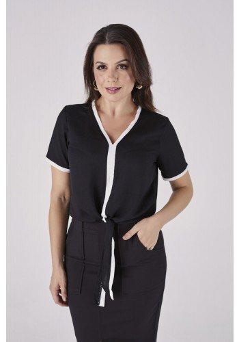 blusa bicolor preta cascais cloa cl2023pt