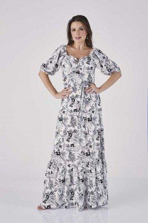 vestido longo estampado p b golveia cloa cl2096br frente